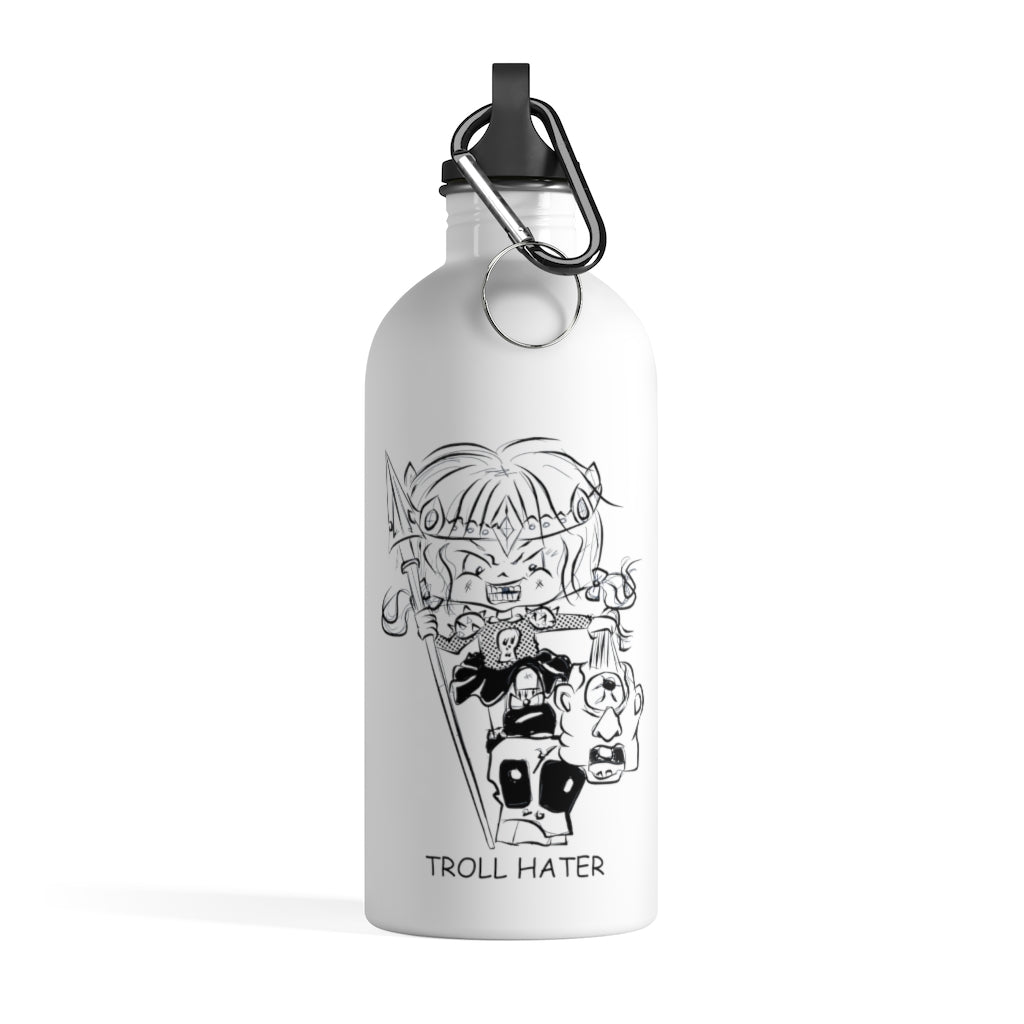 Troll Hater Outline Style Stainless Steel Water Bottle