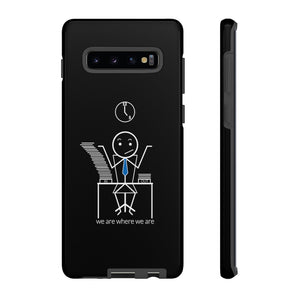 Male Office Worker Tough Phone Case Dark