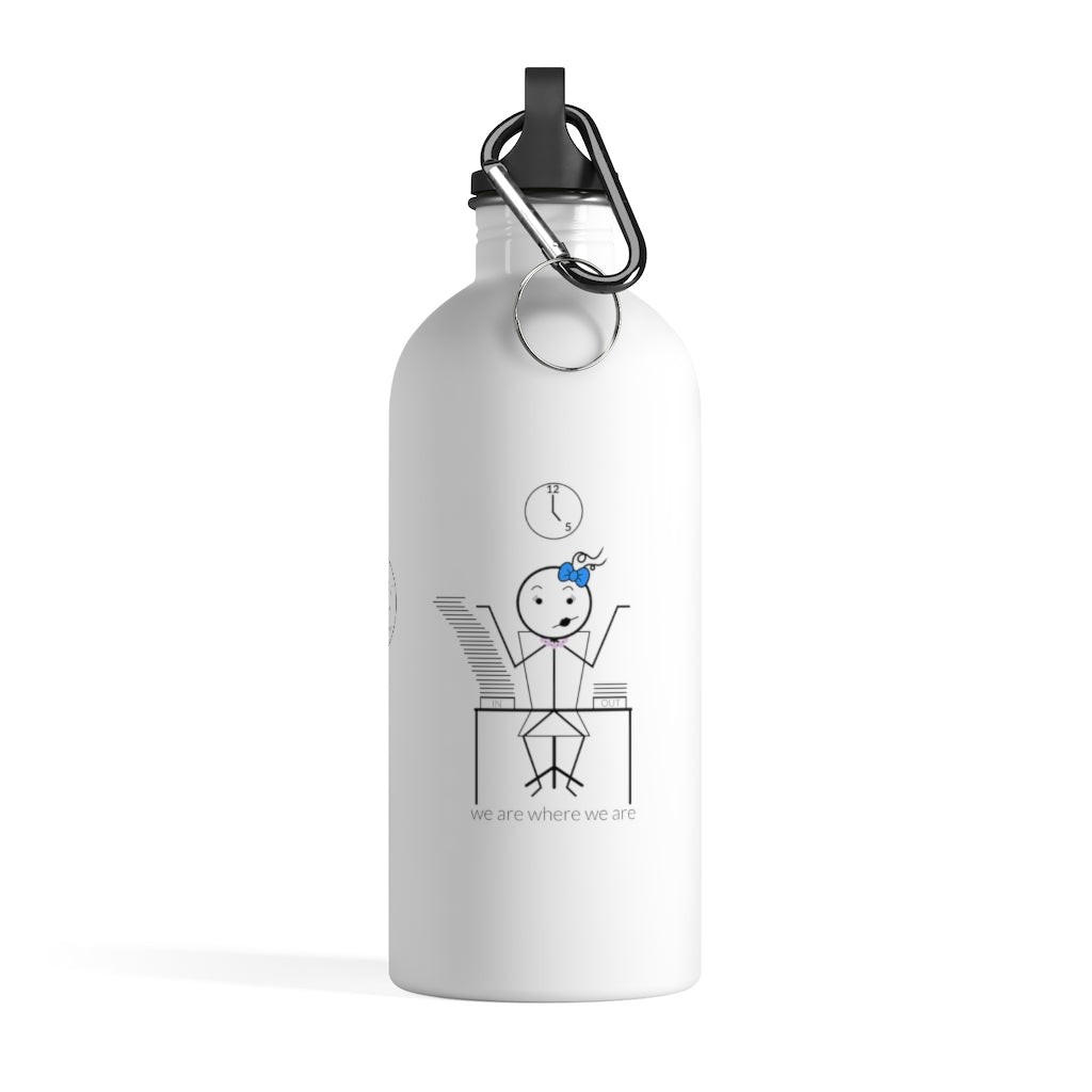 Female Office Worker Stainless Steel Water Bottle