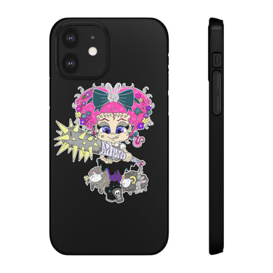 Attitude Cartoon Style Snap Case in Black