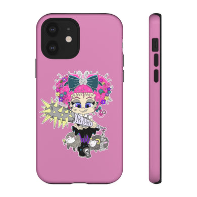 Attitude Cartoon Style Tough Case in Pink