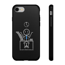 Load image into Gallery viewer, Male Office Worker Tough Phone Case Dark
