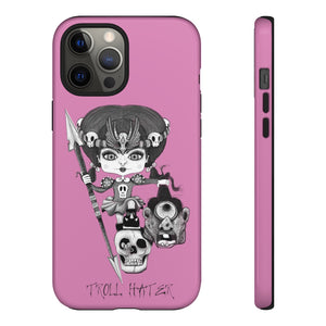 Troll Hater Goth Light Style Tough Case in Pink