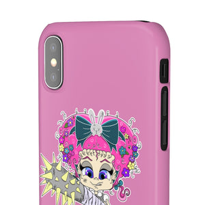 Attitude Cartoon Style Snap Case in Pink