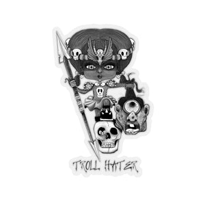Troll Hater Goth Dark Style Kiss-Cut Stickers
