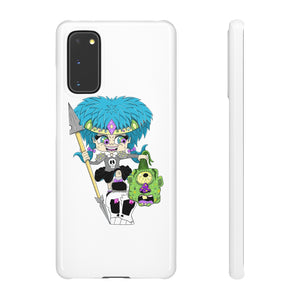 Troll Hater Cartoon Style Snap Case in White