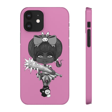 Attitude Goth Dark Style Snap Case in Pink