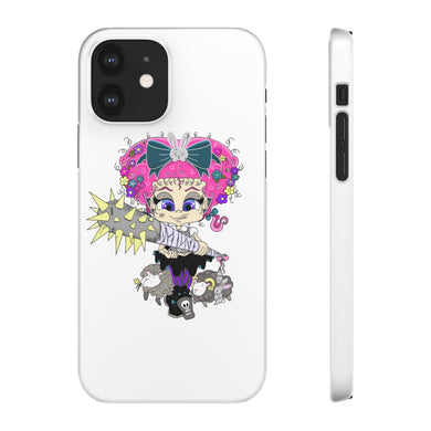 Attitude Cartoon Style Snap Case in White