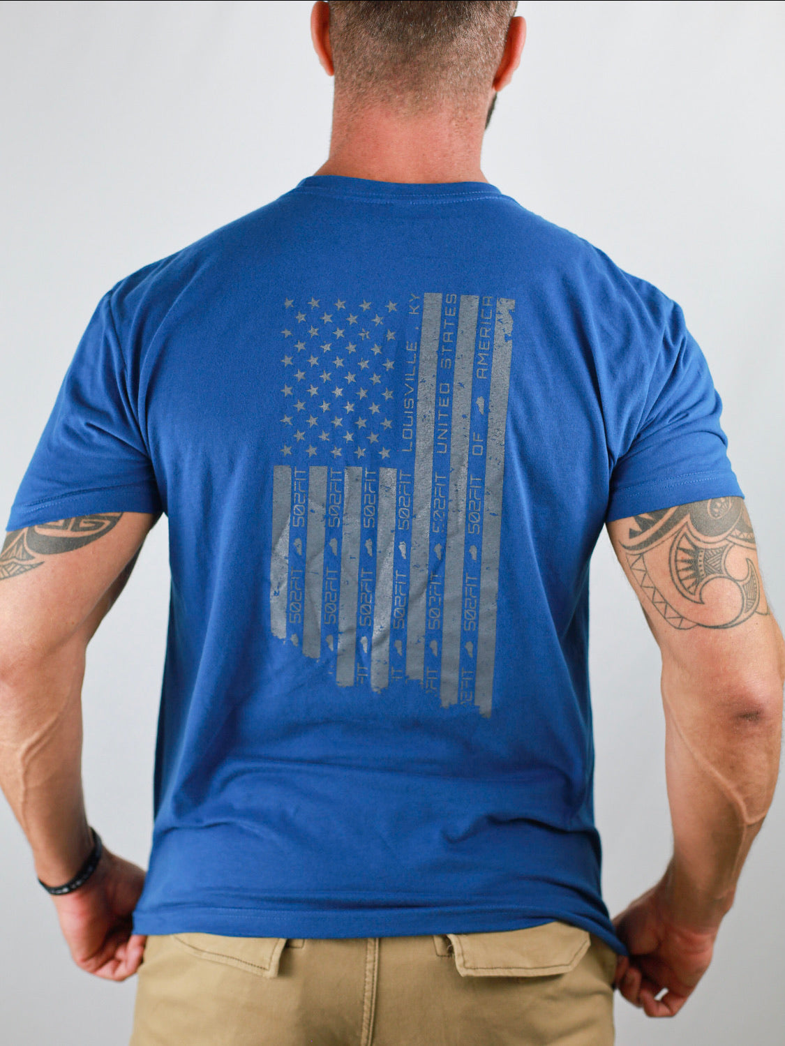 Men's 5F Distressed Flag Back T-Shirt