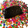 Rico Sequin Clutch with UltraSuede Tab Zipper Pulls - SOLD OUT