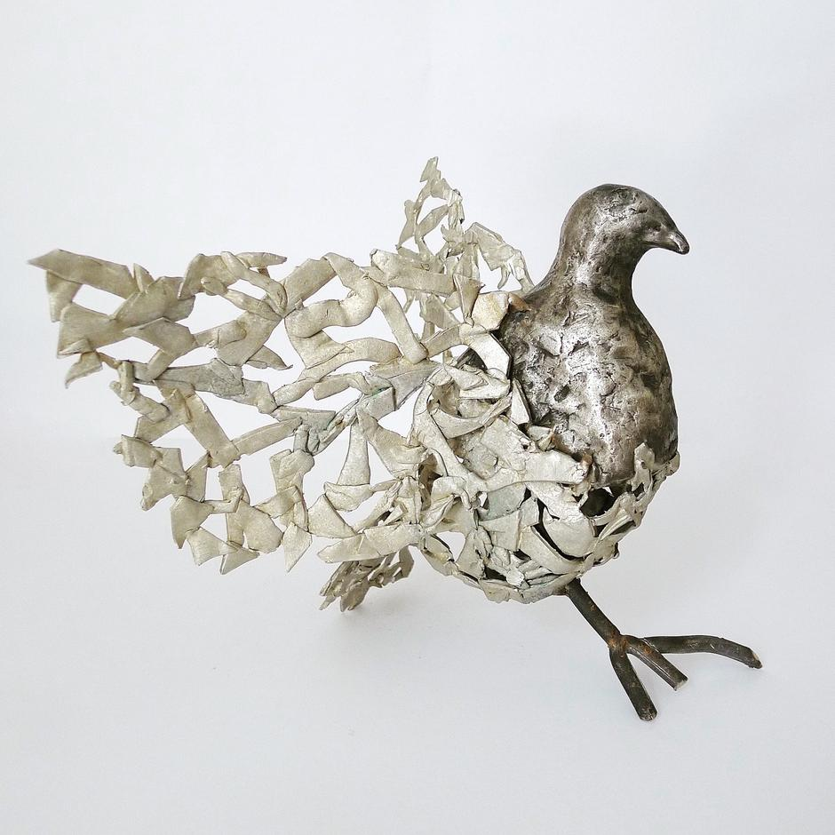 Dove, white bronze