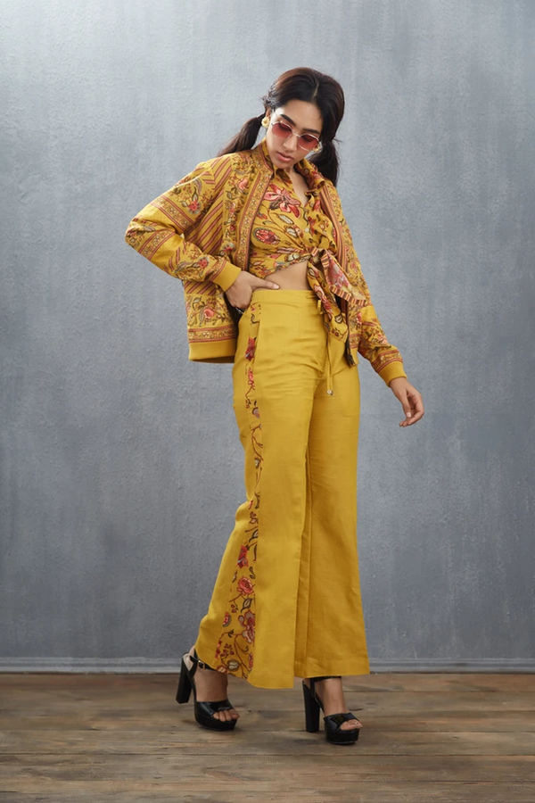 Simi Chanderi Bell Bottoms