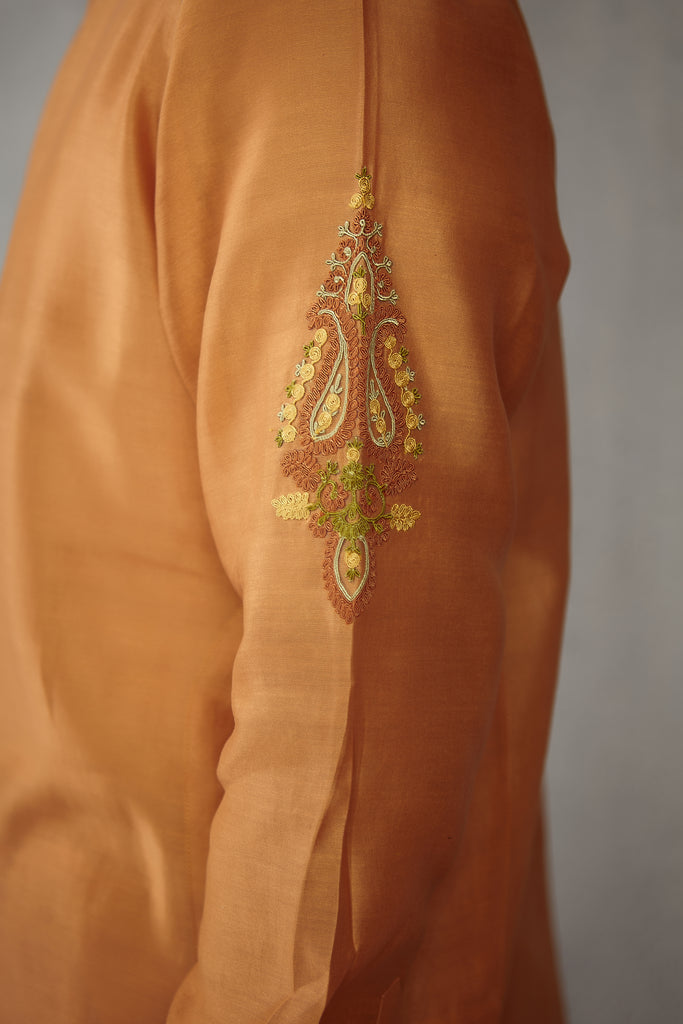 Chanderi Drupad Kurta Set