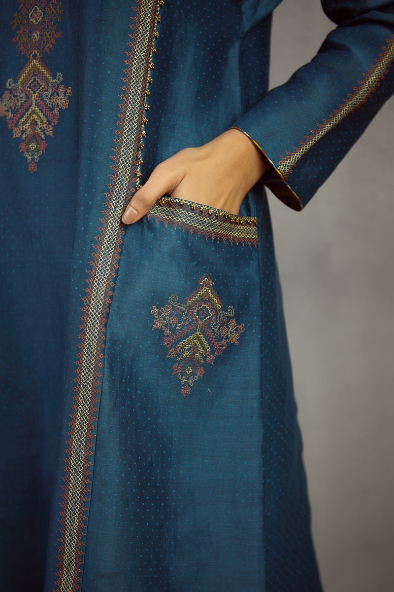 Neelam kasuti kashish kurta and pants