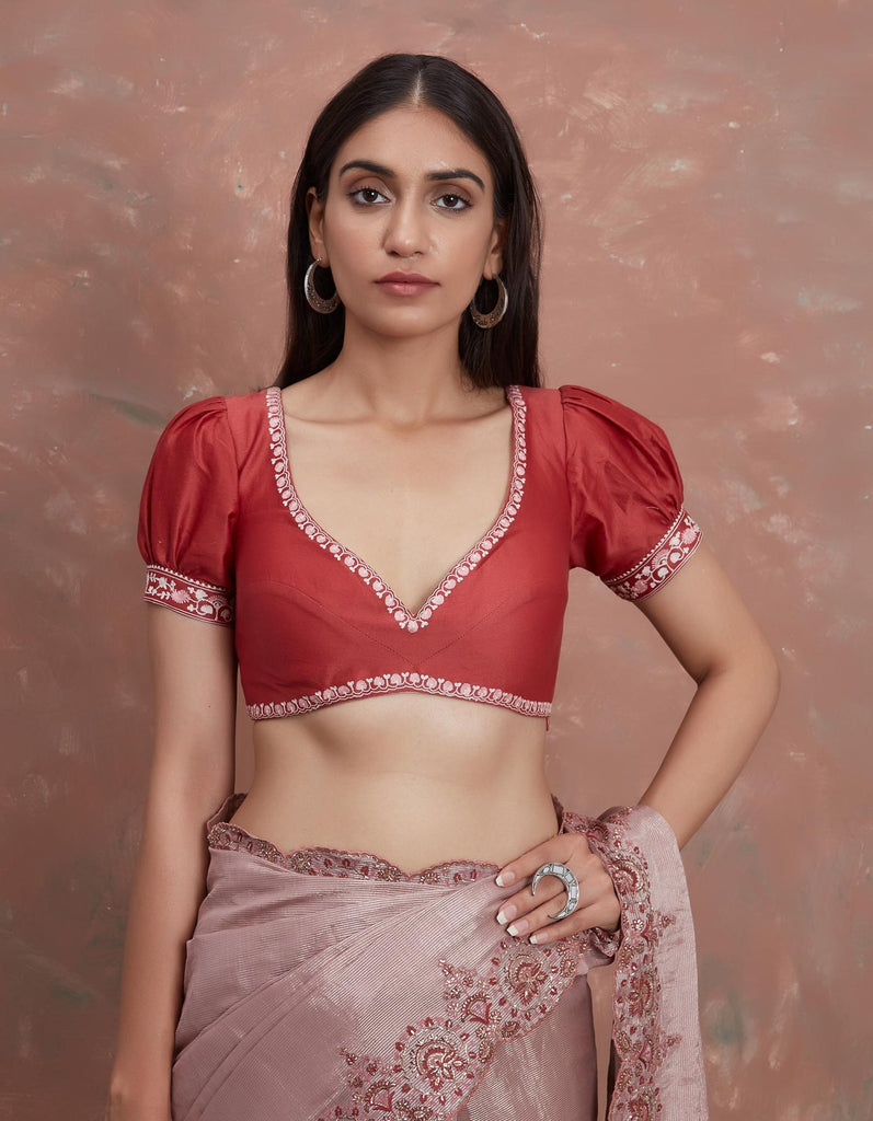 Rani Pink Chanderi Blouse