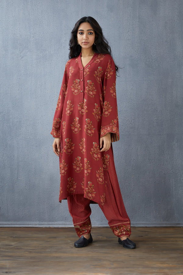 Gudhal Gul Boota Chandika Kurta and Pant Set