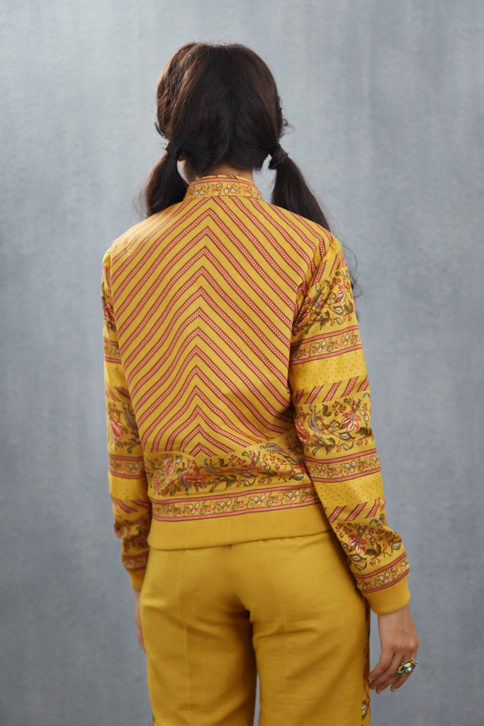 Simi Chanderi Bomber Jacket