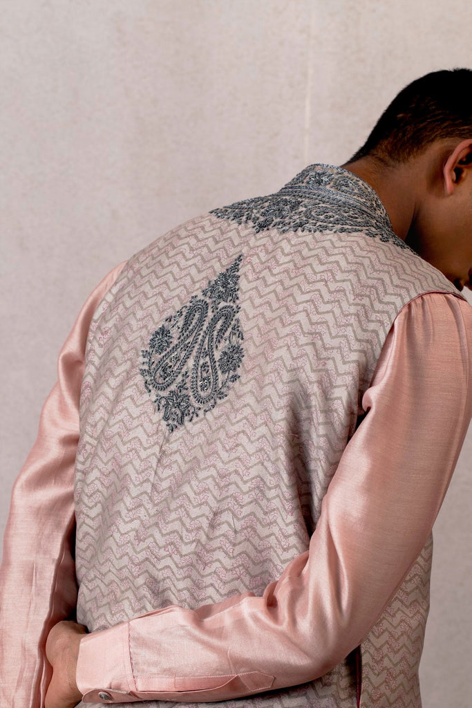 Slaty viras sindhi hand embroidered bandy jacket