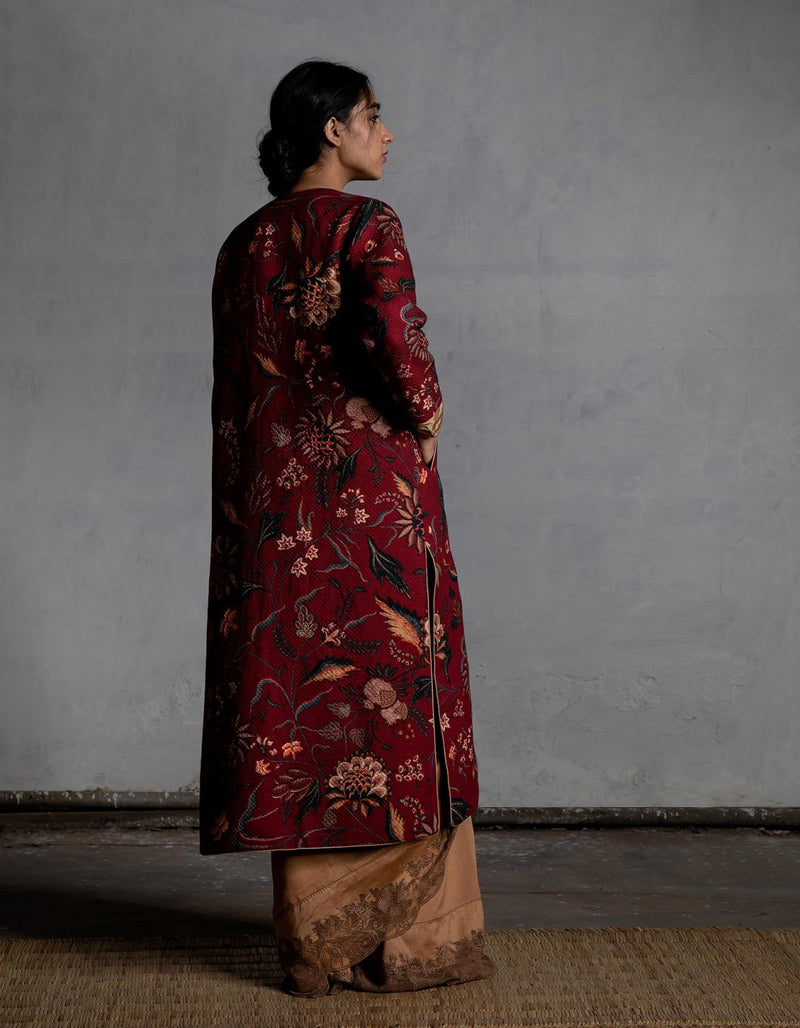 Bhura Anardana Cotton Jaquard Jacket