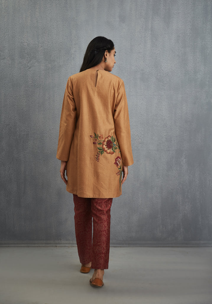 Akhrot Anardana Chintz embroidered Long Kurta