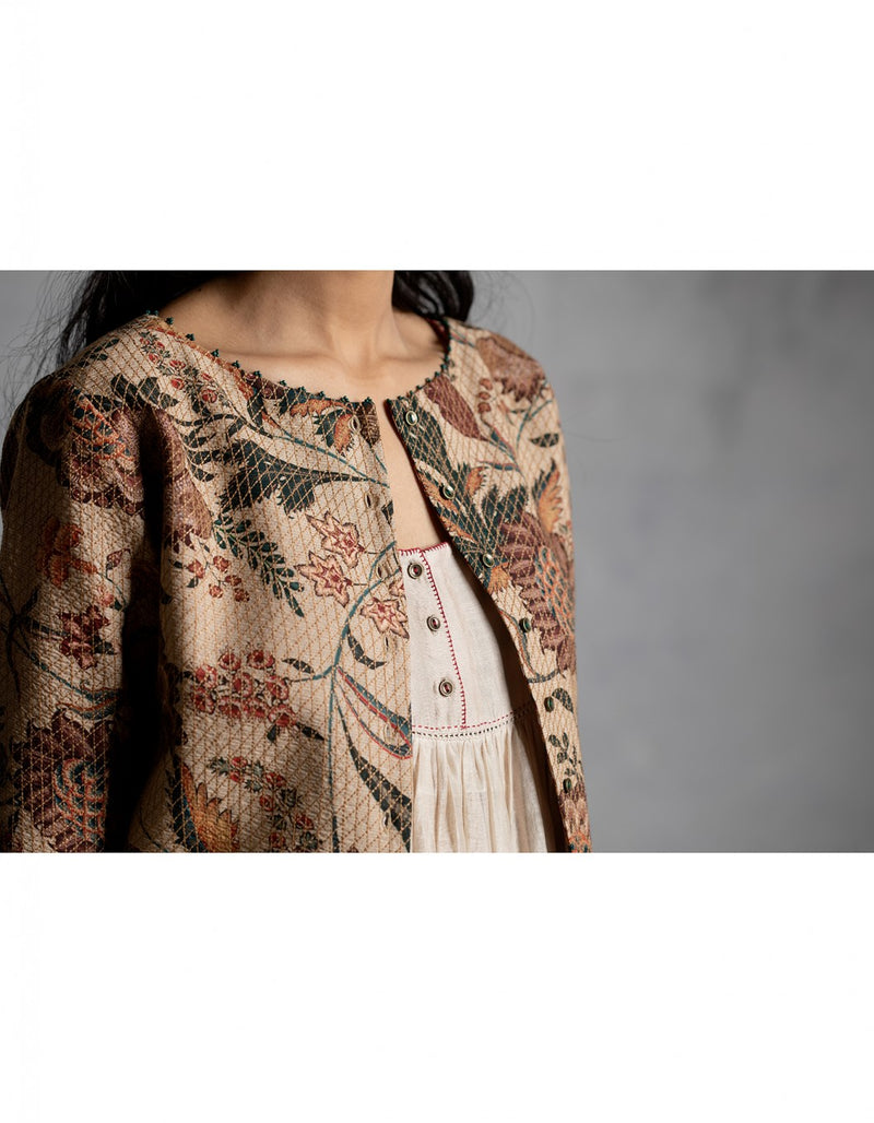 Chandan Anardana Chintz Quilted Blouse / Top