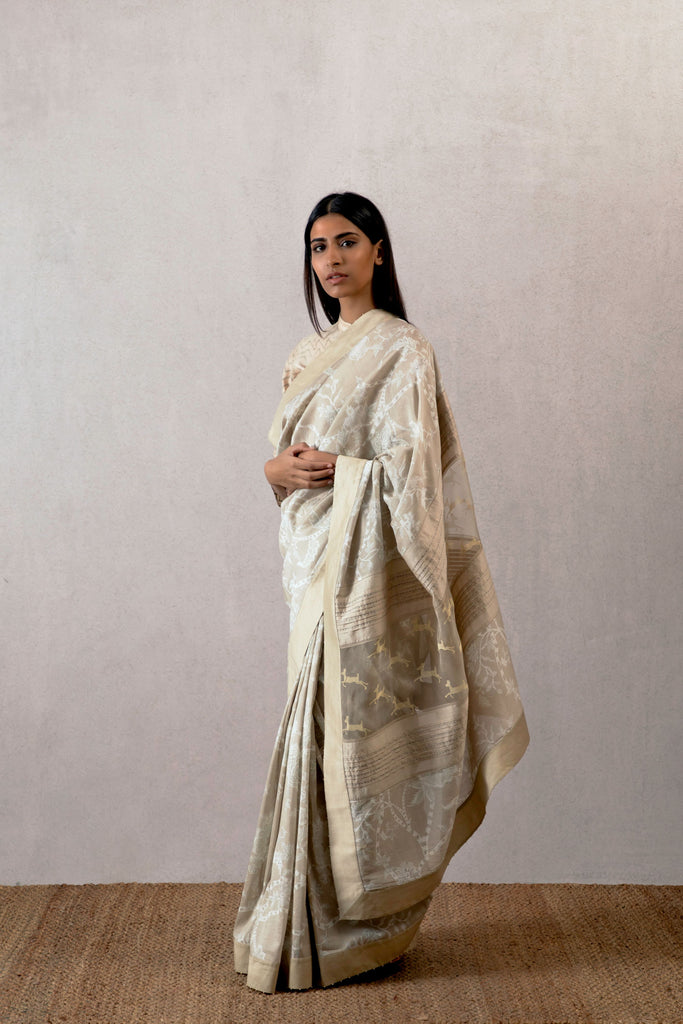 Nargis cheent chanderi saree