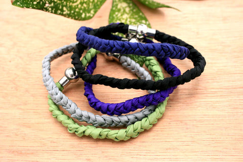 Fashionable gift/birthday/anniversary/ for her/ handmade silk braided bracelets (Winter collection) (ETO00003)