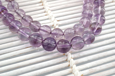 Amethyst Phantom Quartz A Grade 7-8mm round beads (ETB01125)