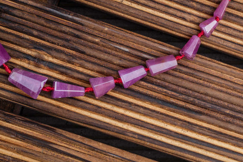 Genuine Ruby Corundum 5.5-12mm faceted beads (ETB00920)
