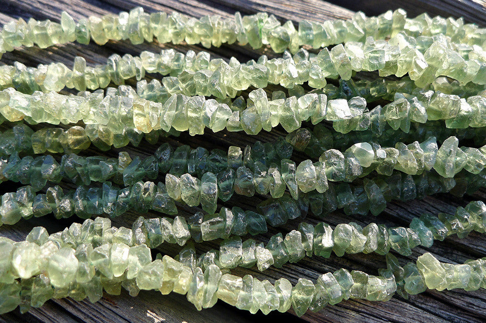Green Apatite (Natural) small chips beads (ETB00728)