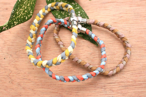 Gift/ birthday/ for her/ everyday/ casual/ Handmade 100% Silk hand braided bracelet from Eclectic collection (ETO00005)