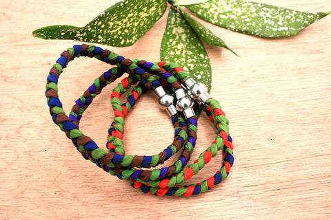 Fashionable silk braided bracelet (from Circus collection) (ETO00004)