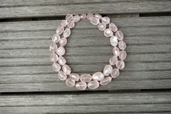 (SPL00099) Rose Quartz large faceted beads from Madagascar