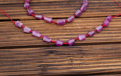 Genuine Ruby Corundum 7.5-9mm faceted beads (ETB00922)