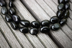Rainbow Obsidian 13-21mm pebble beads (ETB00746)