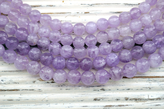 Natural Lavender Amethyst (Madagascar) 7-8mm round beads (ETB00072)