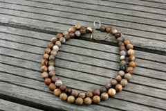 Matte Petrified Wood 11-12mm round beads (ETB00972)