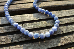 Rare Blue Sapphire faceted 5-6mm round beads (ETB00664)