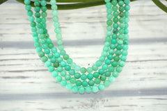 Chrysoprase 4-5mm round beads (ETB01103)