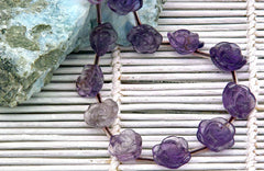 Amethyst 10-14mm handmade rose beads (ETB01144)