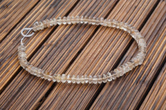 Rutilated Quartz (Brazil) 7.5-10.5mm rondelle beads (ETB00872)