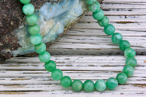 Chrysoprase 6.5-7.5mm round beads (ETB01259)