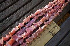 Rhodochrosite 7-11mm triangle beads (ETB00638)
