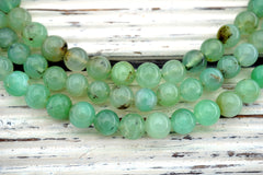Chrysoprase 8-9mm round beads (ETB01102)