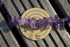 Natural Amethyst chips beads (ETB00725)