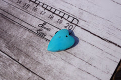 (SPL00080) Sleeping beauty turquoise small heart pendant