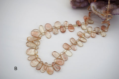 Oregon SunStone freeform beads 8.5-20mm (ETB01454) Healing crystal/Unique jewelry/Vintage jewelry/オレゴンサンストーン