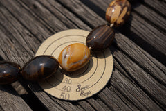 (SPL00063) Petrified Peanut Wood from Australia oval beads