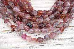 Spinel (Multi-colour) pebble beads 5.5-6.5mm (ETB00675)