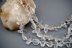 Hollandite Quartz faceted beads (ETB00448)